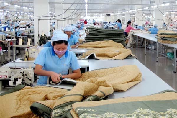 Nhà máy may chăn công nghiệp