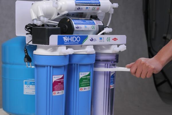 cách mở cốc lọc máy lọc nước