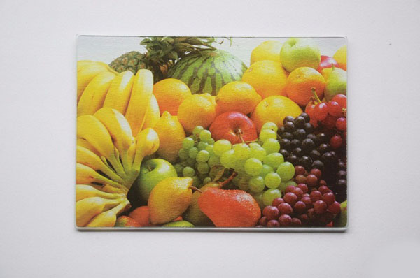 thớt kính cường lực in hình ảnh hoa quả