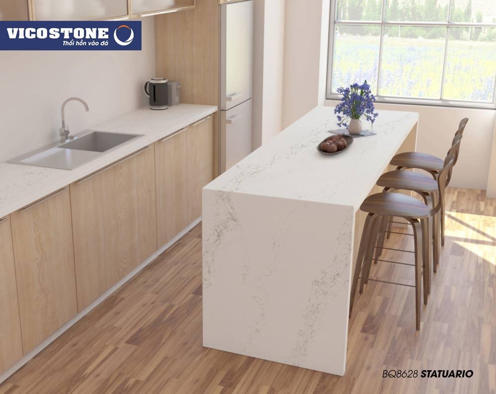 Chọn kích thước đá bàn bếp phù hợp với không gian bếp