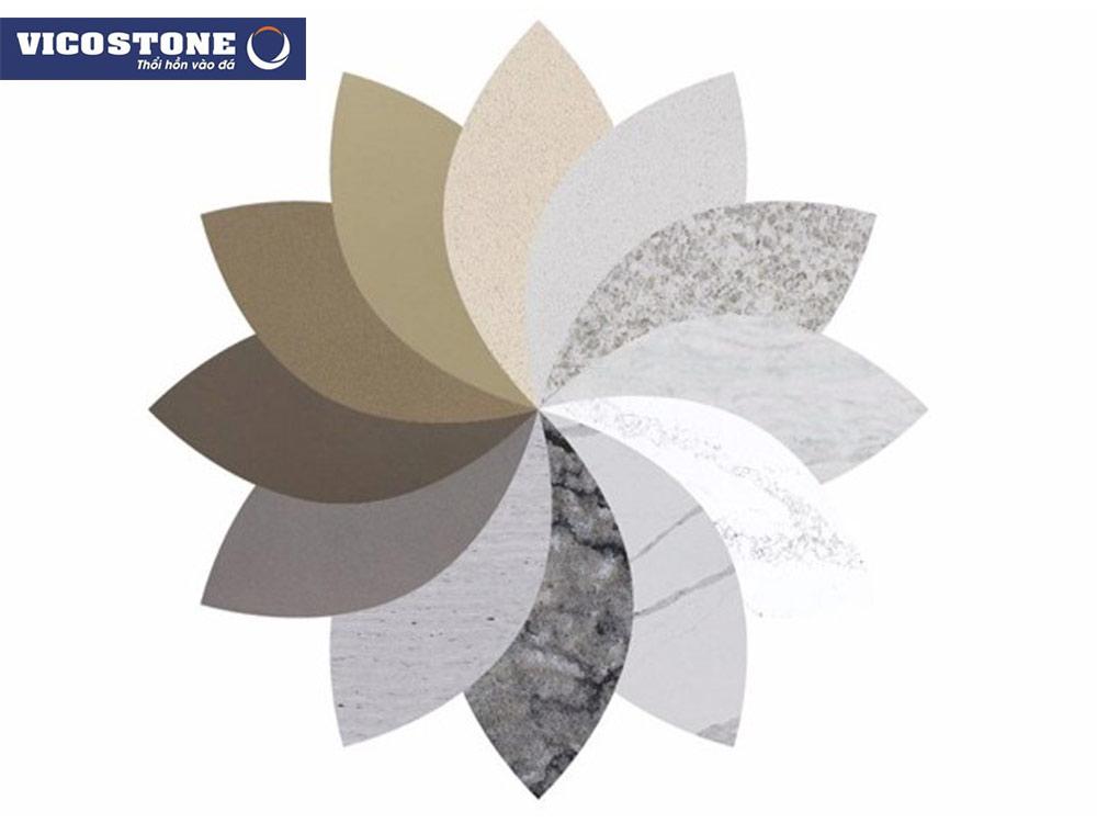 Sản phẩm đá VICOSTONE đa dạng màu sắc, mẫu mã