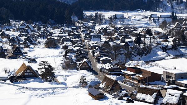 ngắm tuyết khi du lịch Nhật Bản